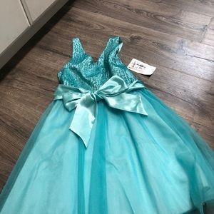 UN DEUX TROIS turquoise sparkly tank dress 👗NEW